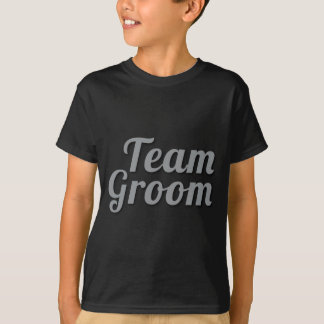 Sombra do noivo da equipe camiseta