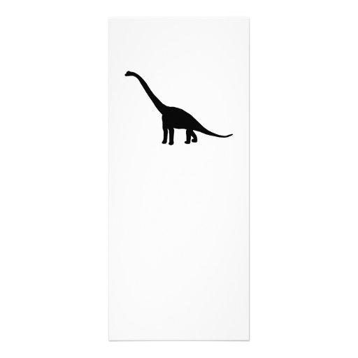 Sombra preta Dino do dinossauro do Brontosaurus Convites Personalizados