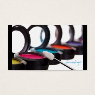 Sombras cosméticas do artista da composição cartão de visitas