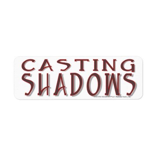 Sombras da carcaça - estúdios da platina etiqueta endereço de retorno