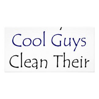Somente as caras legal limpam sua sala cartão com foto