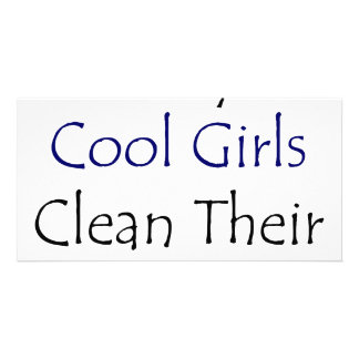 Somente as meninas legal limpam sua sala cartao com foto