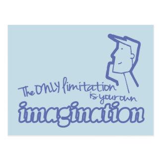 Somente cartão azul das citações da imaginação da