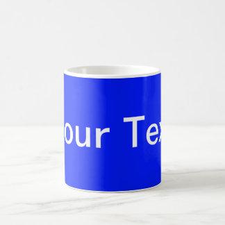 SOMENTE COR/azuis marinhos + seu texto Caneca De Café