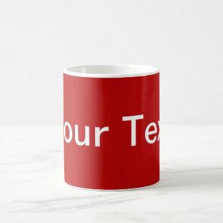 SOMENTE COR/vermelho + seu texto Caneca De Café