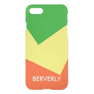 Somente fundo da cor - limão do verde de grama - capa iPhone 7