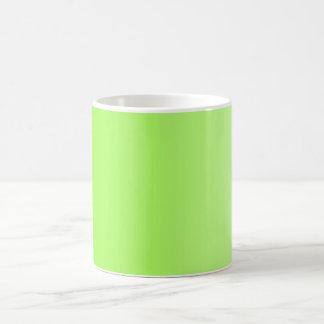 SOMENTE inclinações da COR - verde do néon Caneca De Café