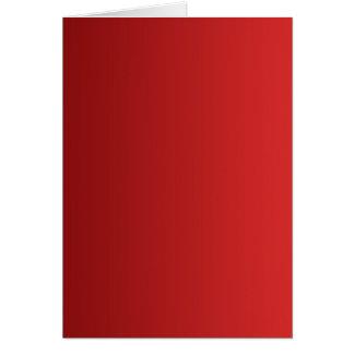 SOMENTE inclinações da COR - vermelho Cartão Comemorativo