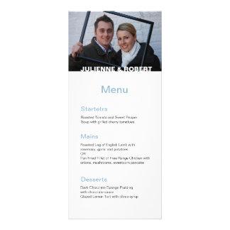 Somente você menu moderno do casamento da foto de 10.16 x 22.86cm panfleto