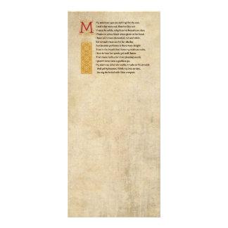 Soneto 130 de Shakespeare (CXXX) no pergaminho 10.16 X 22.86cm Panfleto