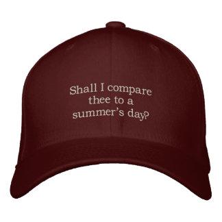 Soneto de Shakespeare # 18 Boné Bordado