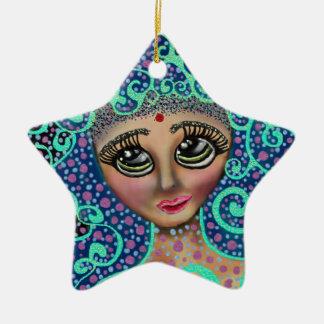Sonhador psicadélico ornamento de cerâmica