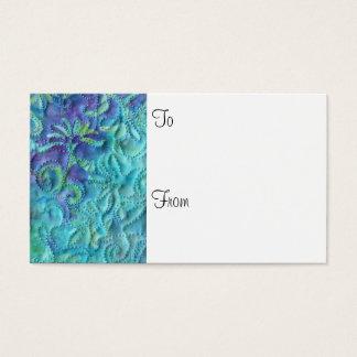 """""""Sonhando"""" em cartões de presente azuis do"""