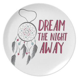 Sonho afastado louça de jantar