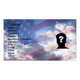 Sonho americano cartão de visita