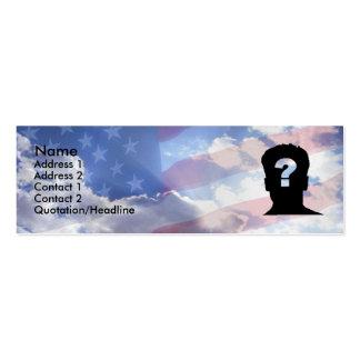 Sonho americano cartão de visita skinny