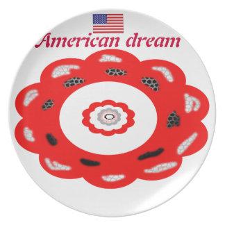 Sonho americano prato de festa