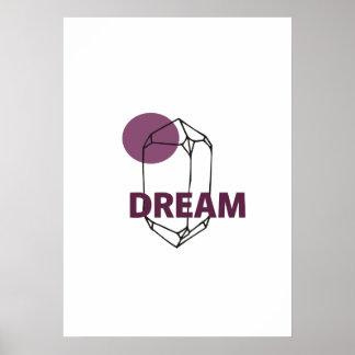 Sonho - arte abstrata de Crytal Pôster