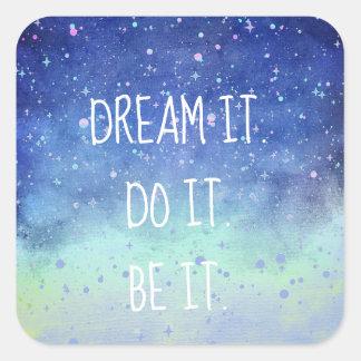 Sonho bonito ele é ele etiqueta estrelado do céu