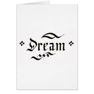 Sonho Cartão Comemorativo