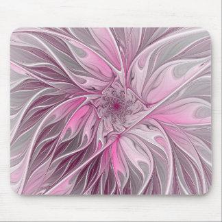 Sonho cor-de-rosa da flor do Fractal, teste padrão Mousepad