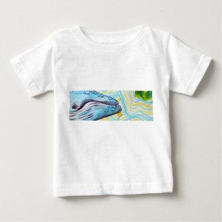 Sonho da baleia camiseta para bebê