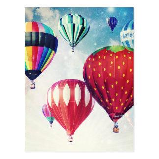 Sonho de balões de ar quente cartão postal