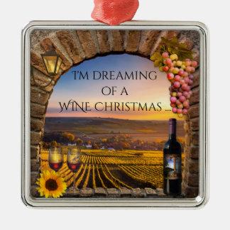 Sonho de uns enfeites de natal do vinho