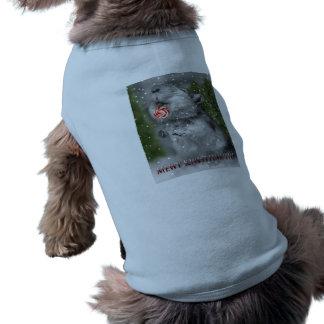 Sonho do Natal do Gerbil Camisa Sem Mangas Para Cachorro