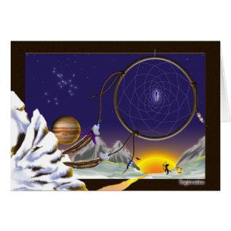 Sonho do Sagitário Cartão Comemorativo