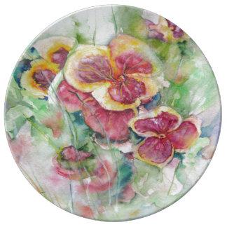 Sonho do verão pratos de porcelana