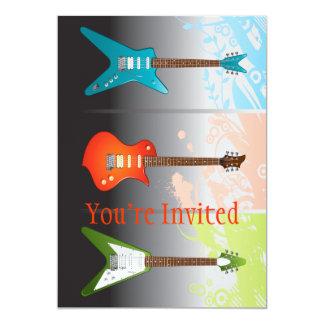 Sonho dos amantes da guitarra elétrica convite 12.7 x 17.78cm