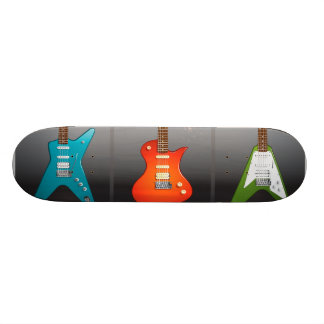 Sonho dos amantes da guitarra elétrica skateboard