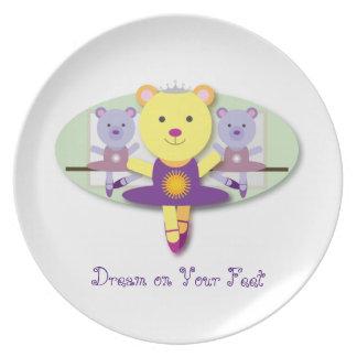 Sonho em seu dançarino de balé do urso da pratos de festas