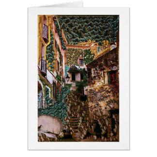 Sonho espanhol cartão comemorativo