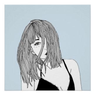 Sonho estético do dia da menina poster perfeito