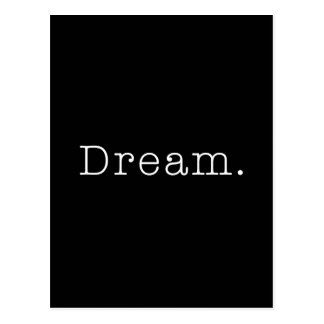 Sonho. Modelo ideal preto e branco das citações Cartão Postal
