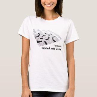Sonho sobre palavras cruzadas camiseta