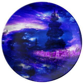 Sonhos Amethyst de Bali da safira Prato De Porcelana