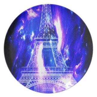Sonhos Amethyst de Paris da safira Louça De Jantar
