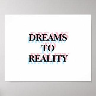 Sonhos ao poster inspirado das citações da