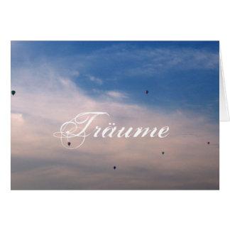 Sonhos Cartão Comemorativo