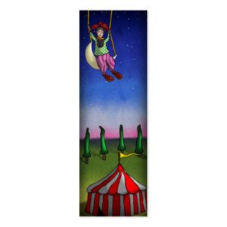 Sonhos da acrobata, bloco do marcador ou cartões cartão de visita skinny
