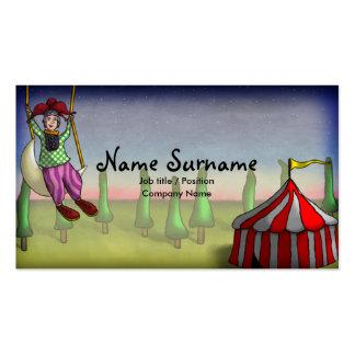 Sonhos da acrobata, modelo de cartão de negócios cartão de visita