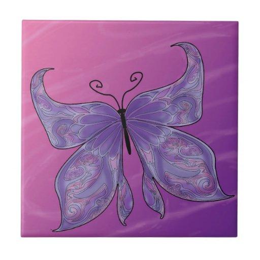 Sonhos da borboleta azulejos de cerâmica