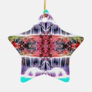 Sonhos da cachoeira ornamento de cerâmica