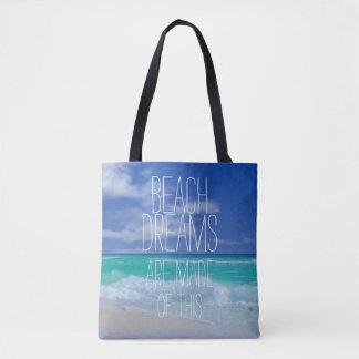 Sonhos da praia bolsa tote