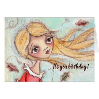 Sonhos do aniversário - cartão de aniversário