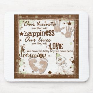 Sonhos do bebé mouse pad