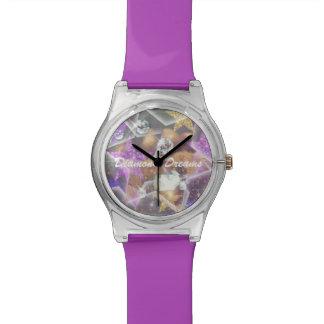 Sonhos do diamante relógio de pulso